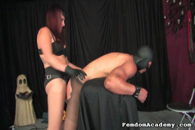 Ride him cowgirlam amazon dominatrix rides her slave s face then fucks his butt with a large black dildo.