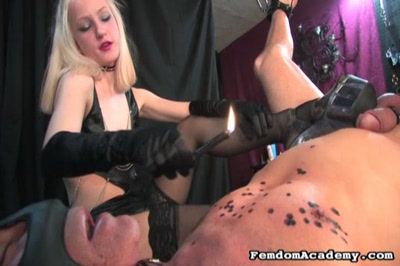 Take that you slimy wormwith big contempt dominatrix inflicts such punishments as dripping hot wax assfucking and whipping.